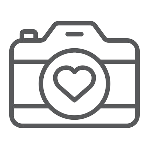 graphic of camera with heart