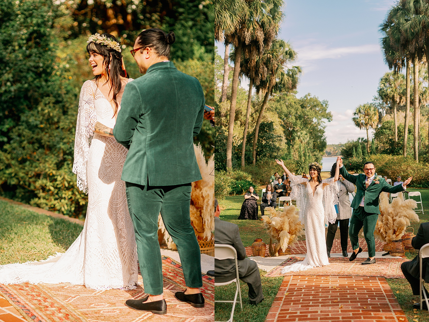 Wedding ceremony at the Alfred B Maclay Gardens in Tallahassee
